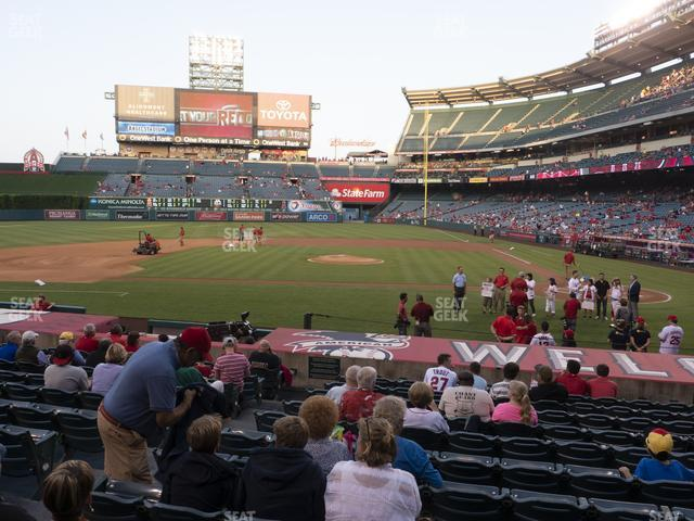 Angel Stadium of Anaheim Section 113 view