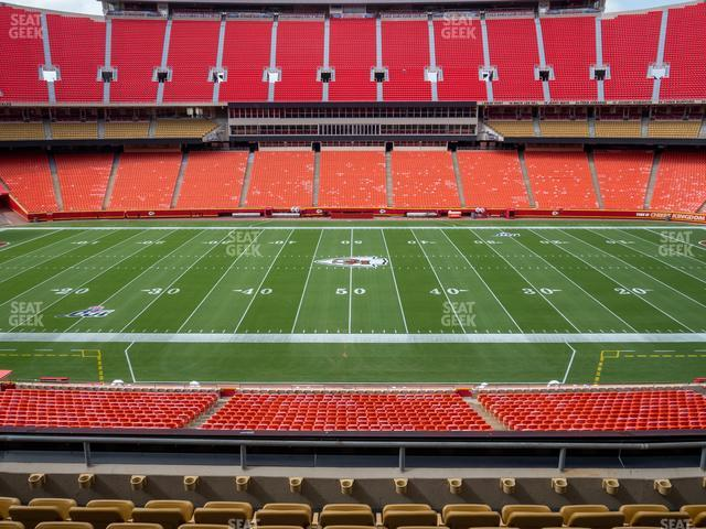 Arrowhead Stadium Section 201 view