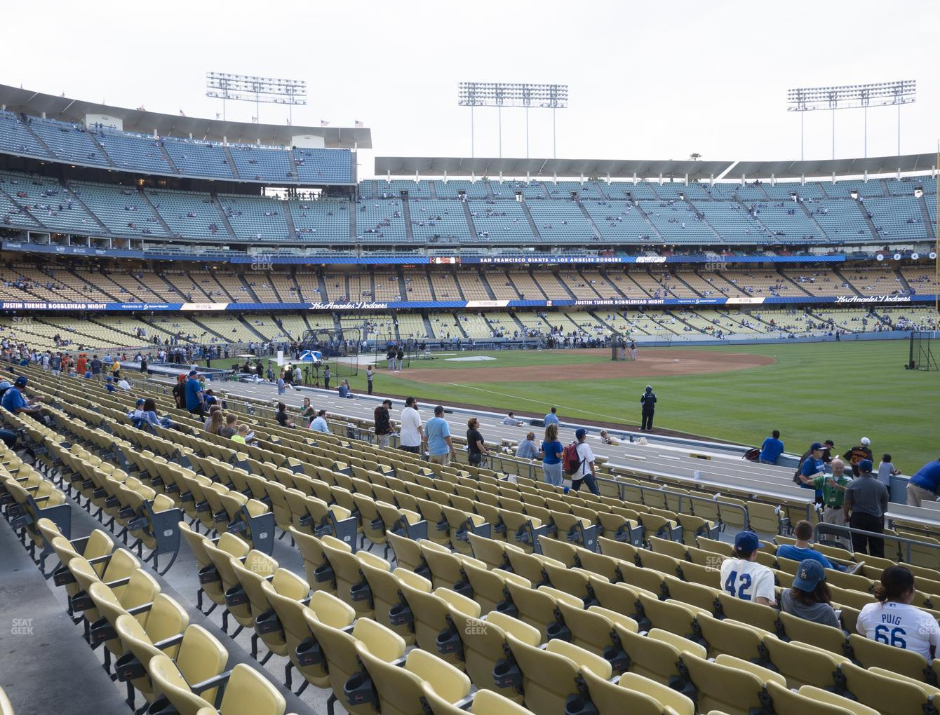 Los Angeles Dodgers at Dodger Stadium Field Box 44 View