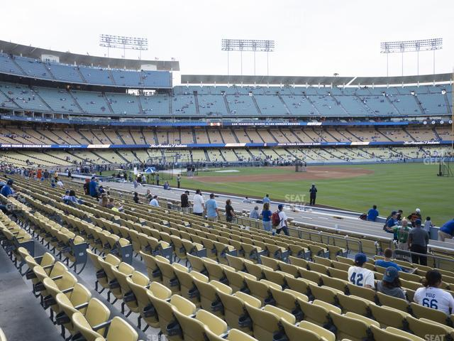 Dodger Stadium Field Box 44 view