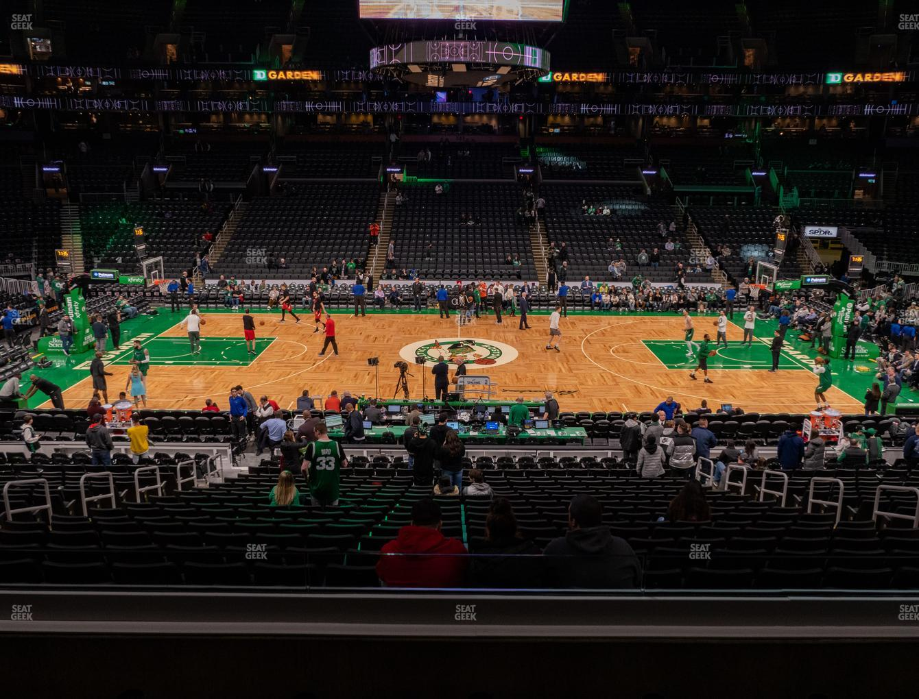 Boston Celtics at TD Garden Section Club 111 View