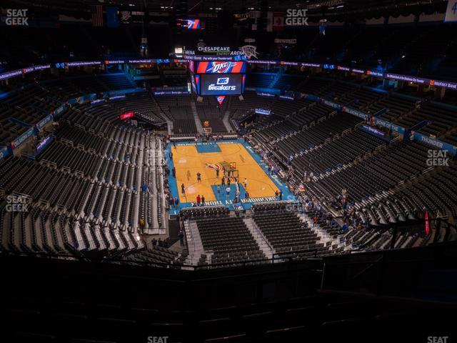 Chesapeake Energy Arena Section 302 view