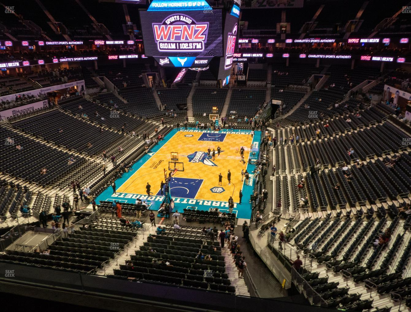 Charlotte Hornets at Spectrum Center Section 216 View