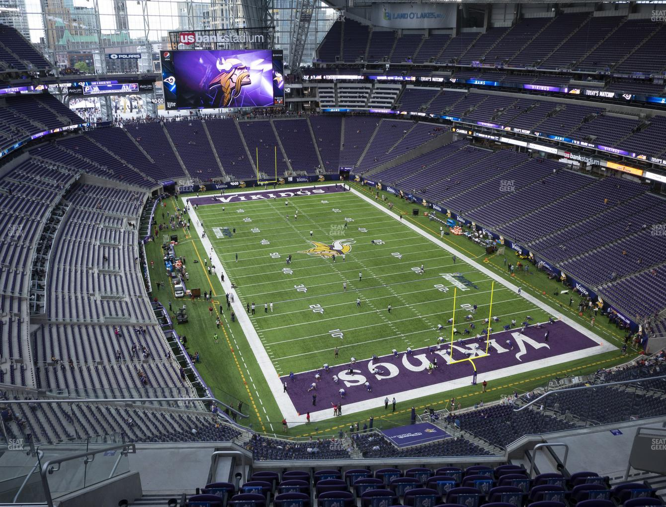 Minnesota Vikings at U.S. Bank Stadium Section 330 View