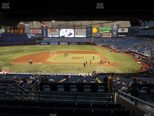 Tropicana Field Section 111 view