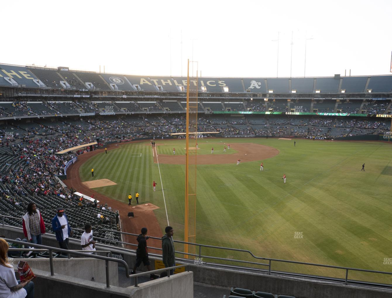 Oakland Athletics at RingCentral Coliseum Section 203 View