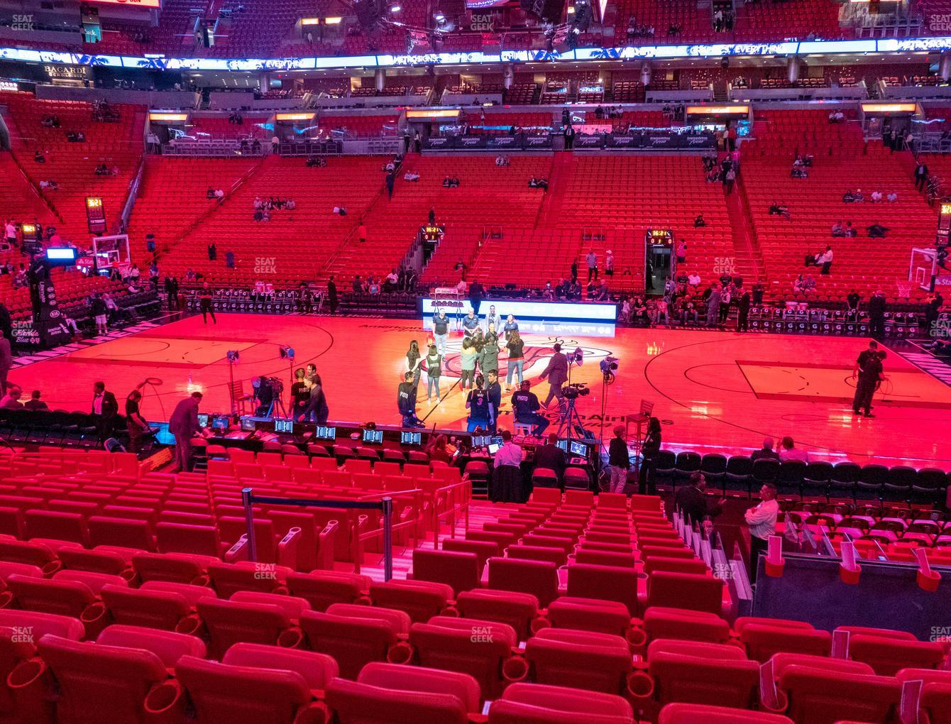 Miami Heat at American Airlines Arena Section 118 View