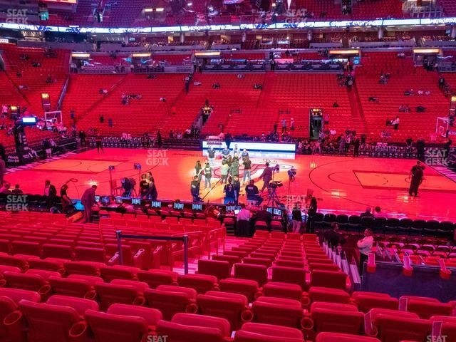 American Airlines Arena Section 118 view