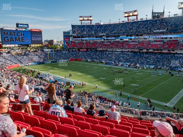 Nissan Stadium Section 206 view