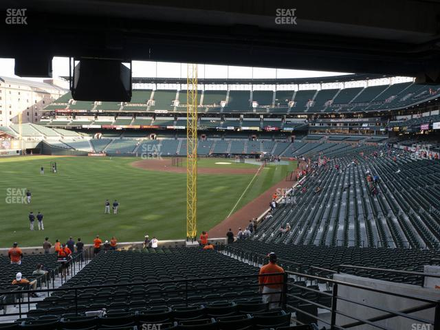 Oriole Park at Camden Yards Section 77 view