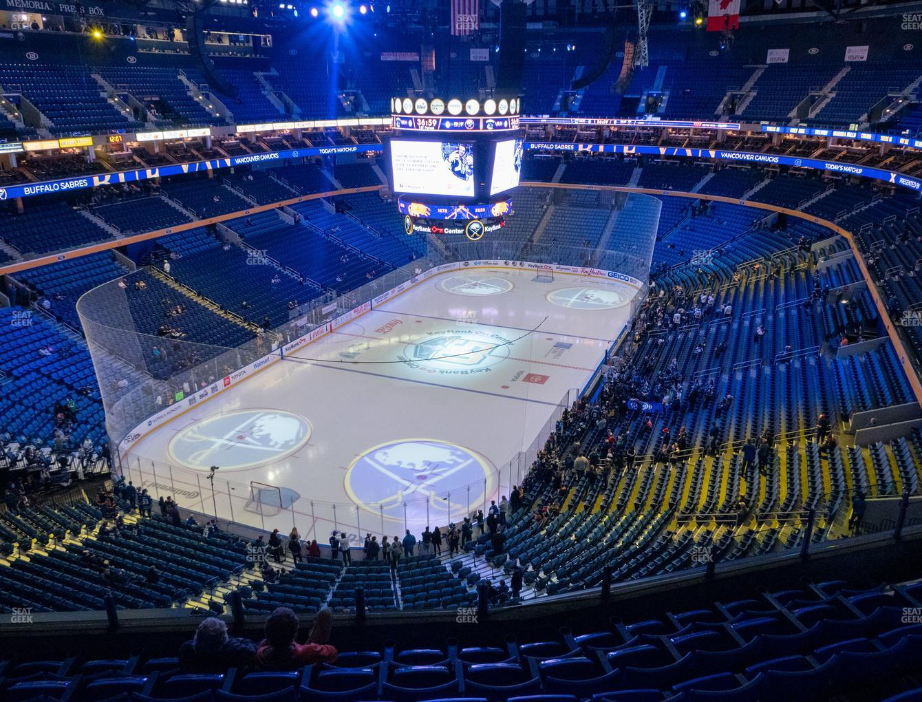 Buffalo Sabres at KeyBank Center Section 311 View