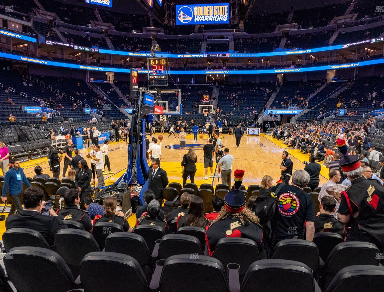 Golden State Warriors at Chase Center Riser 21 View