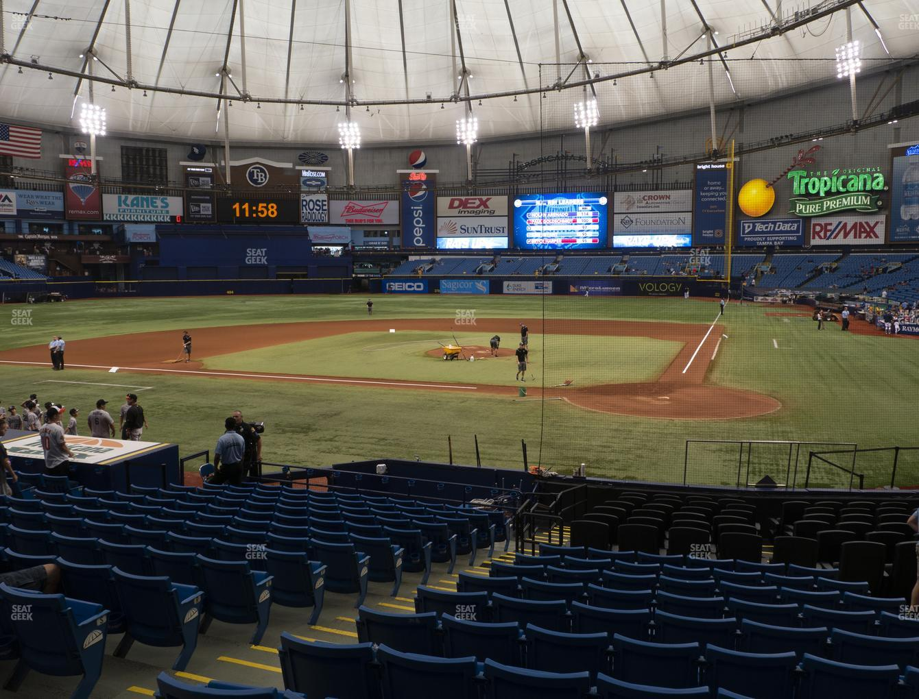 Tampa Bay Rays at Tropicana Field Section 107 View