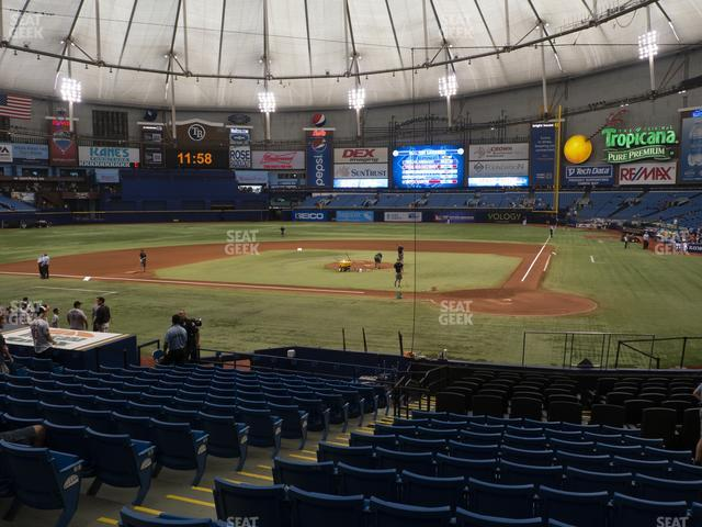 Tropicana Field Section 107 view