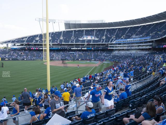 Kauffman Stadium Section 207 view