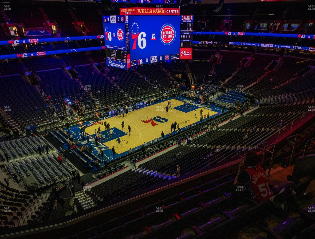 Wells Fargo Center Section 210 A Seat Views Seatgeek