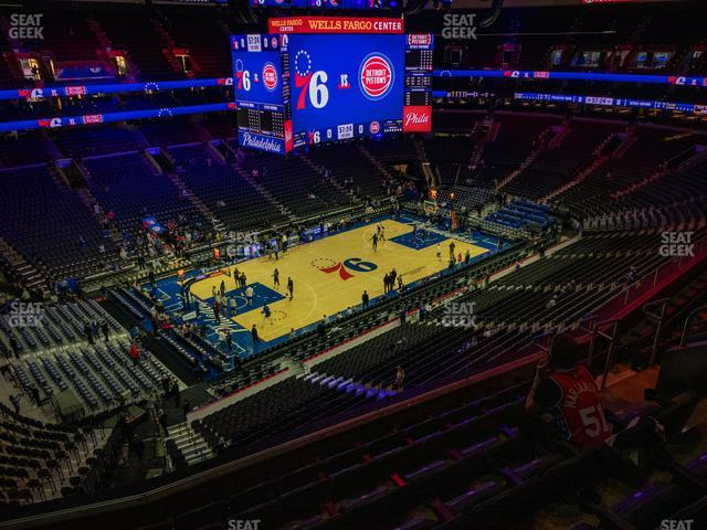 Wells Fargo Center Section 210 A view