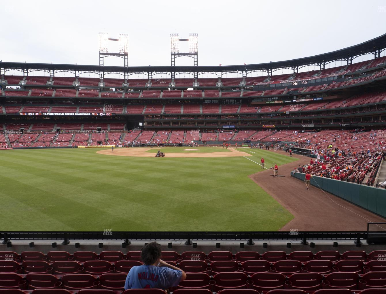 St. Louis Cardinals at Busch Stadium Lower Left Field Box 171 View