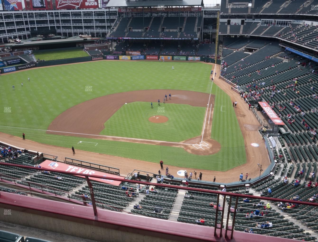 Texas Rangers at Globe Life Park Section 322 View