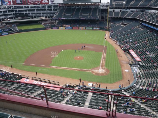 Globe Life Park Section 322 view