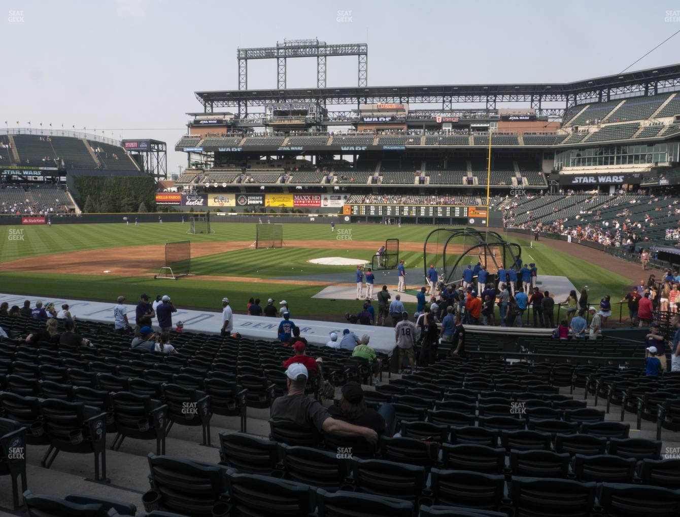 Colorado Rockies at Coors Field Section 135 View