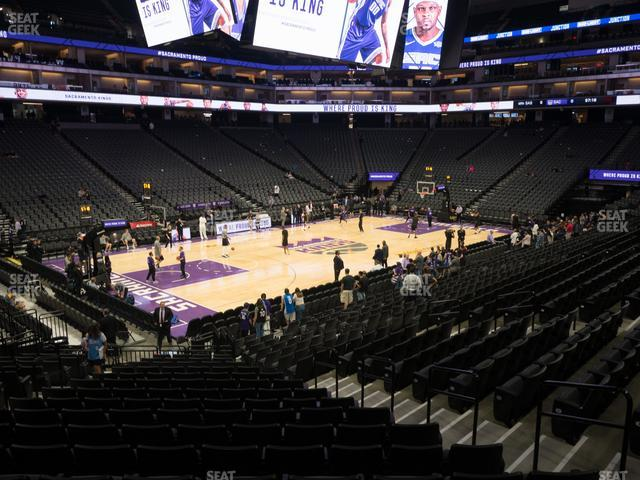 Golden 1 Center Section 123 view