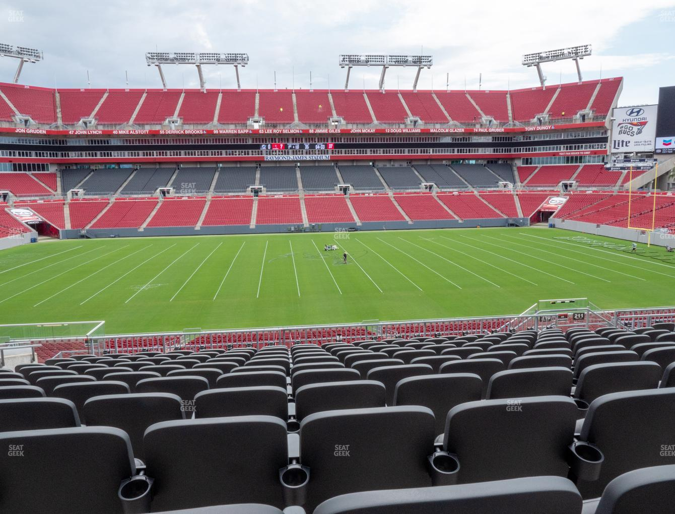 Raymond James Stadium Section 210 Seat Views Seatgeek