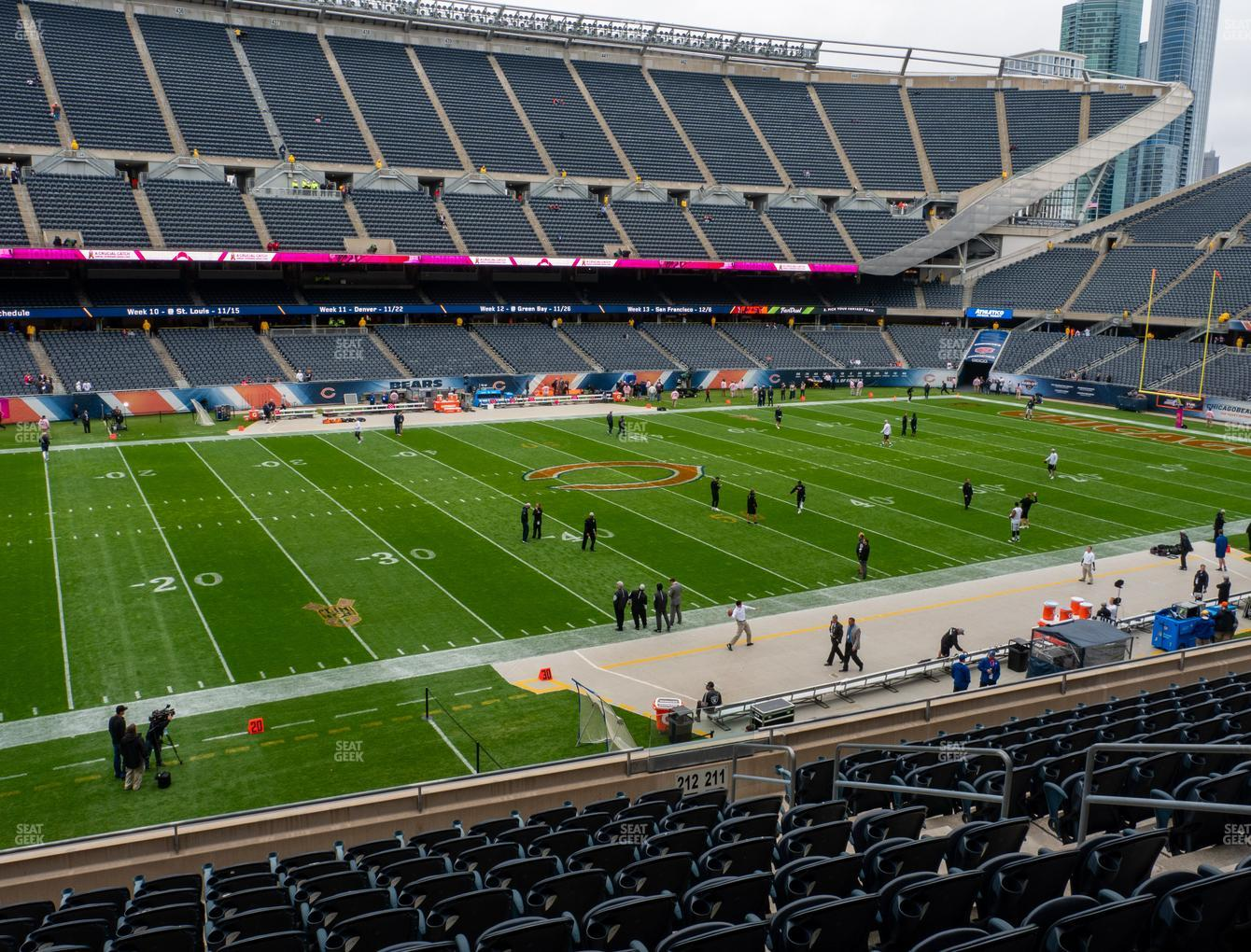Chicago Bears at Soldier Field Section 212 View