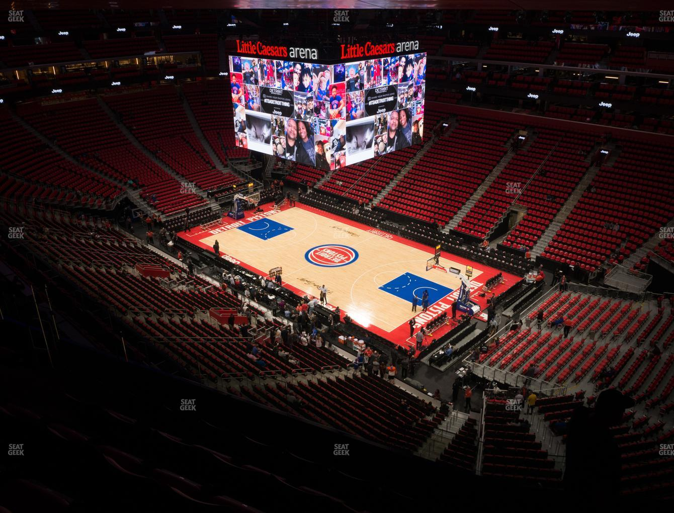 NBA at Little Caesars Arena Section 223 View