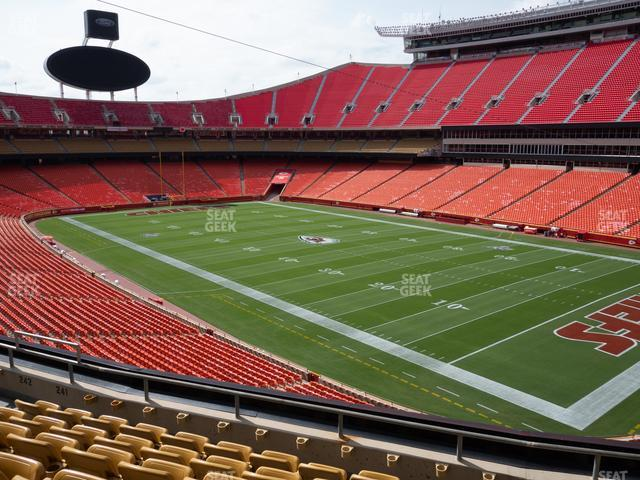 Arrowhead Stadium Section 241 view