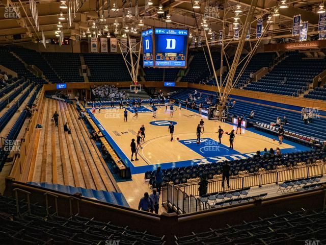 Cameron Indoor Stadium Section 1 view