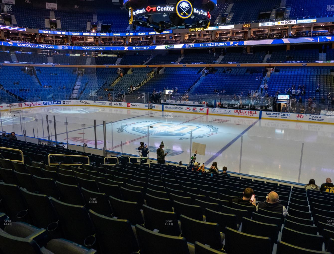 Buffalo Sabres at KeyBank Center Section 116 View