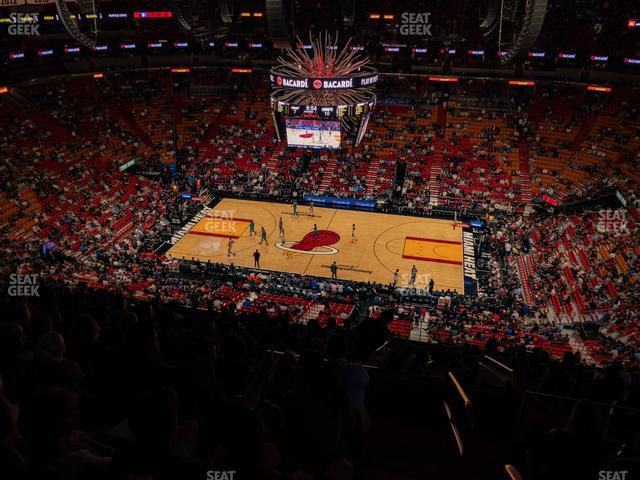 American Airlines Arena Section 308 view