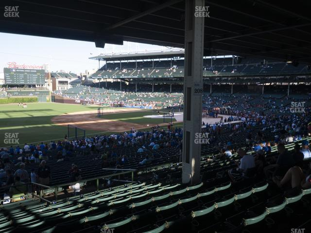 Wrigley Field Section 207 view
