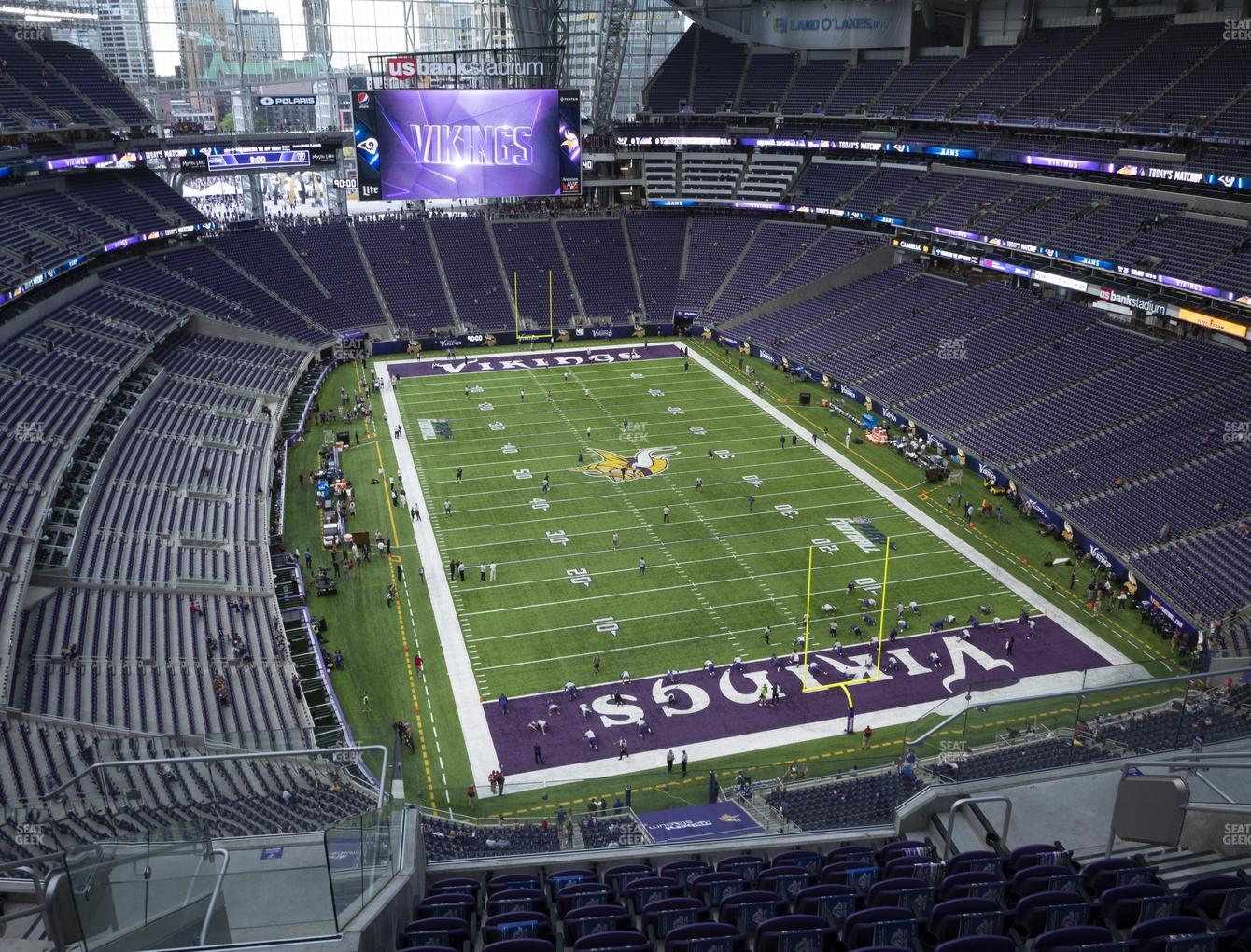 Minnesota Vikings at U.S. Bank Stadium Section 329 View