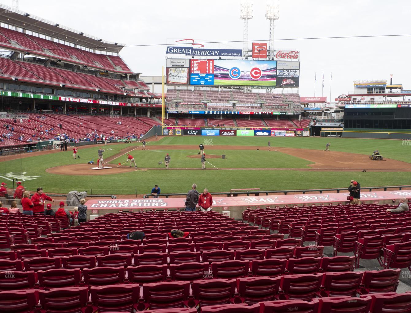 Cincinnati Reds at Great American Ball Park Section 128 View