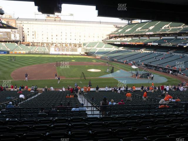 Oriole Park at Camden Yards Section 53 view