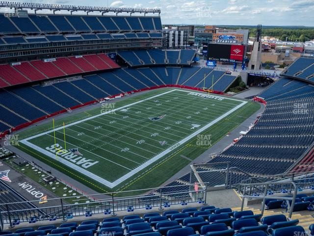 Gillette Stadium Section 318 view