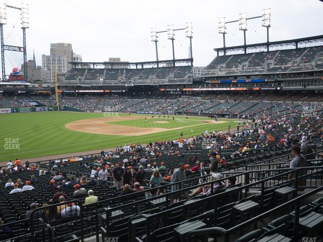 Comerica Park Section 139 view