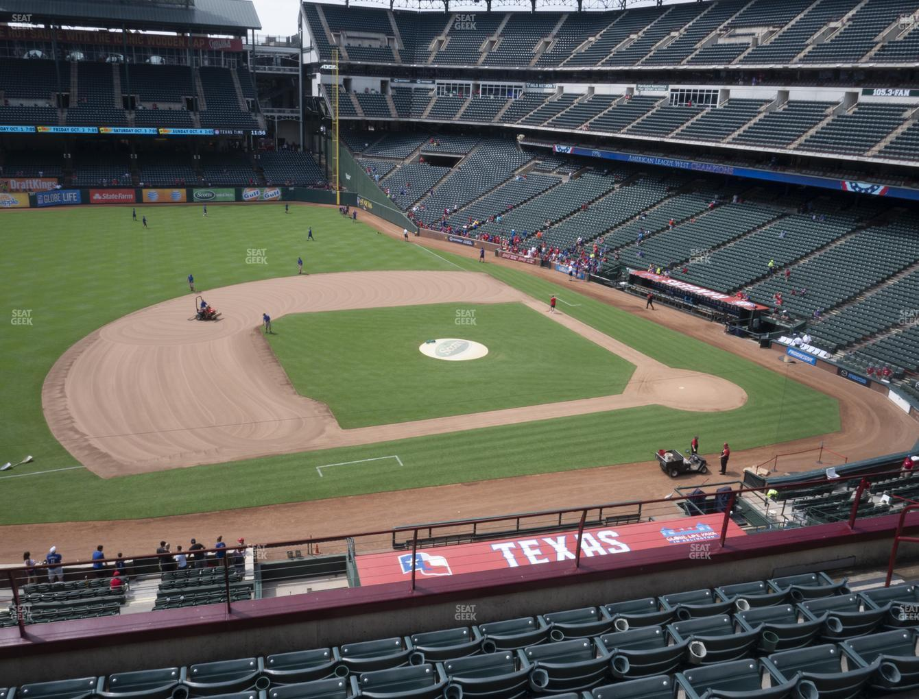 NHL at Globe Life Park Section 218 View
