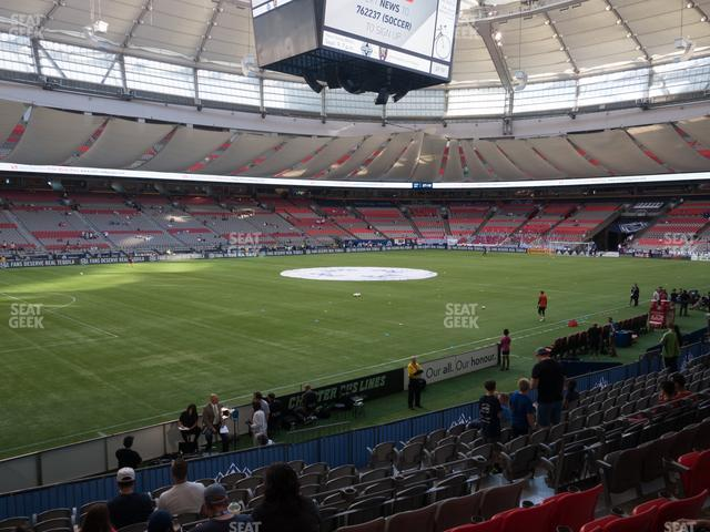 BC Place Stadium Section 219 view