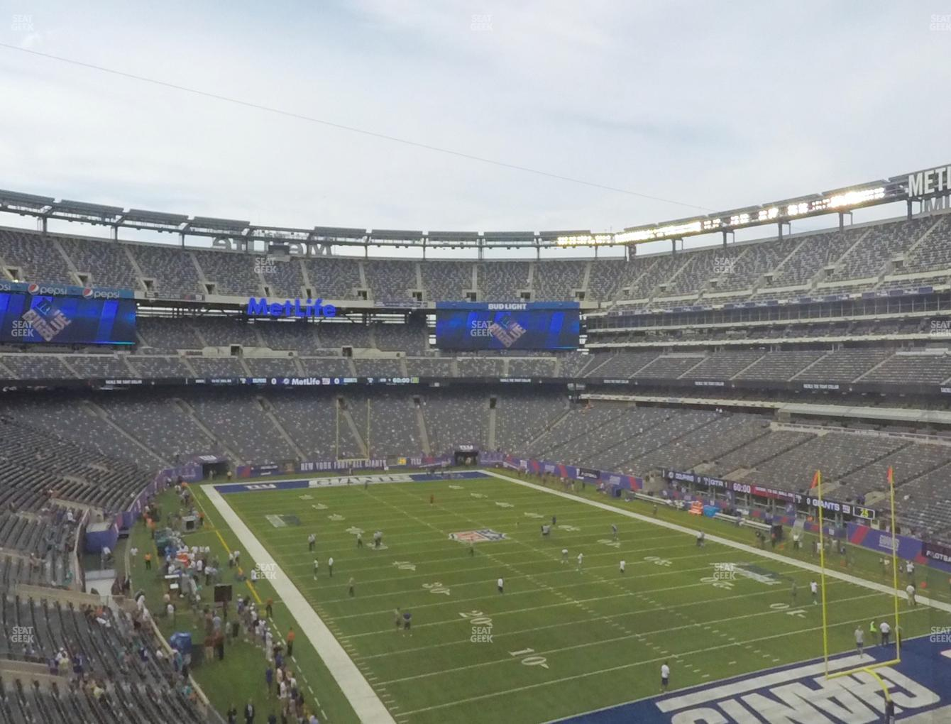 New York Jets at MetLife Stadium Section 230 A View