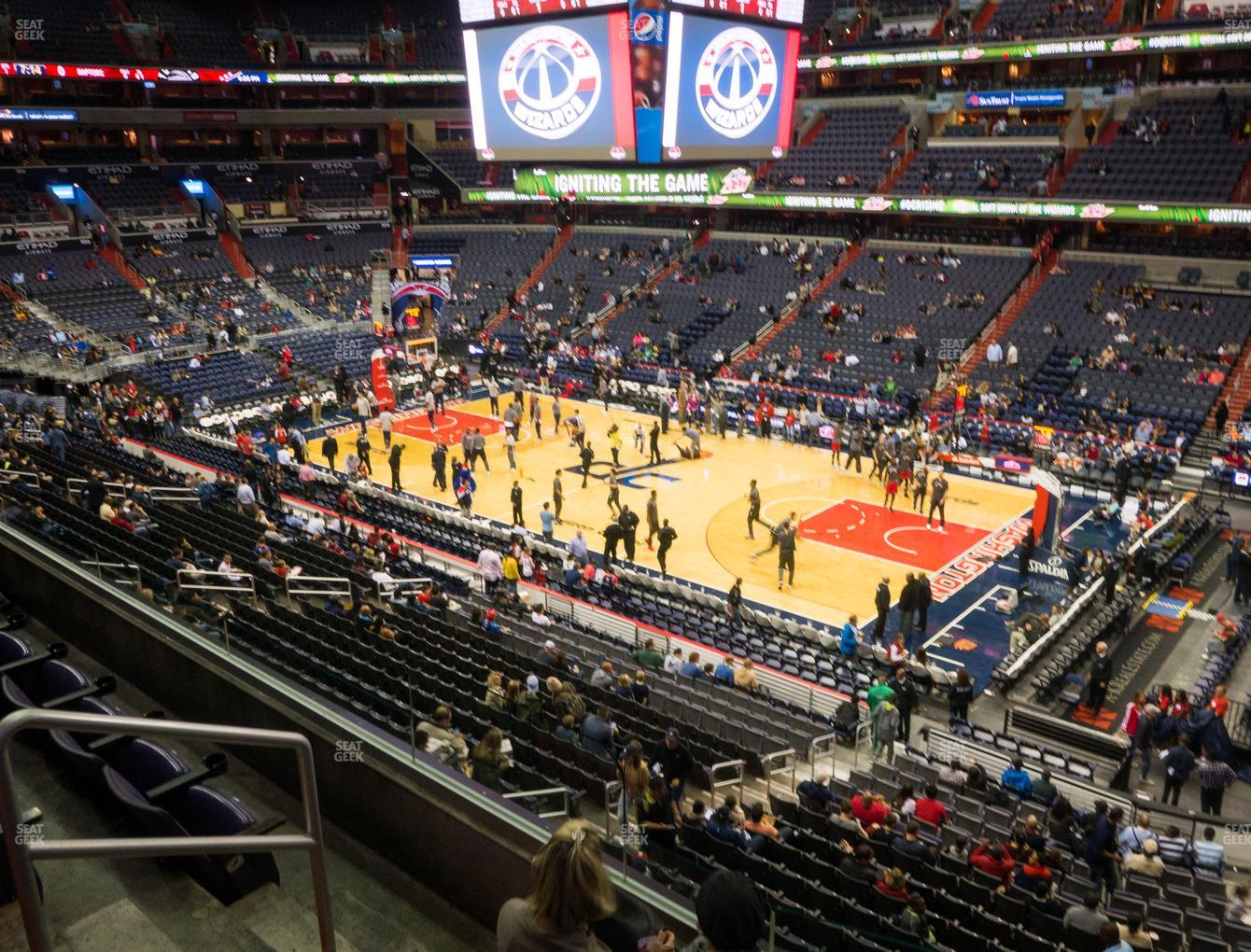 Washington Wizards at Capital One Arena Section 218 View