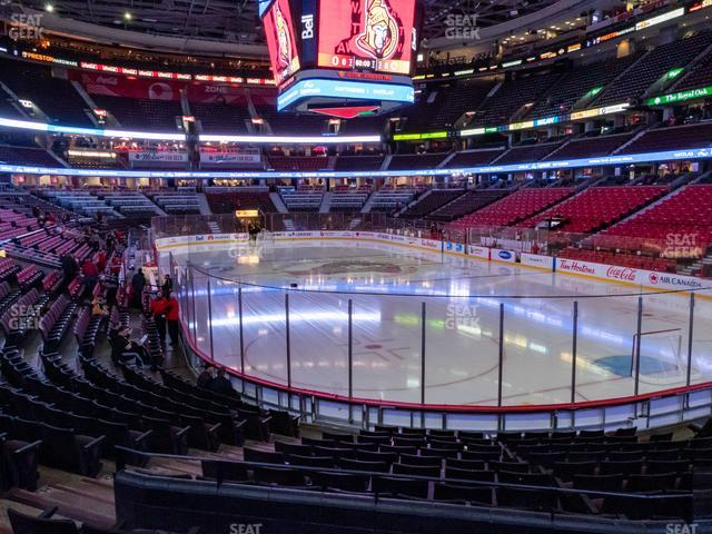 Canadian Tire Centre Section 102 view