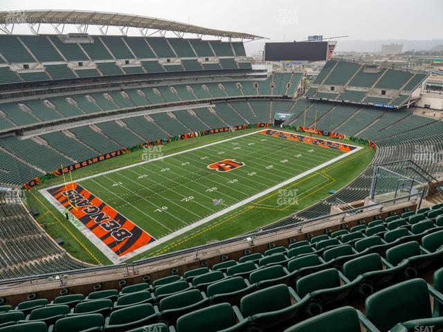 Paul Brown Stadium Section 346 view