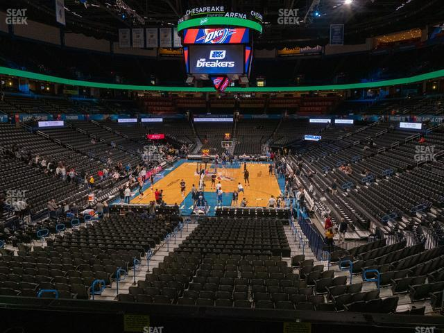 Chesapeake Energy Arena Lower Terrace 215 view
