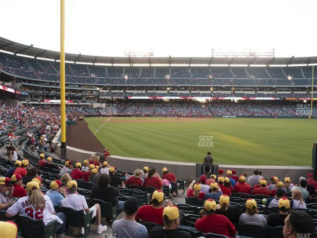 Angel Stadium of Anaheim Section 134 view