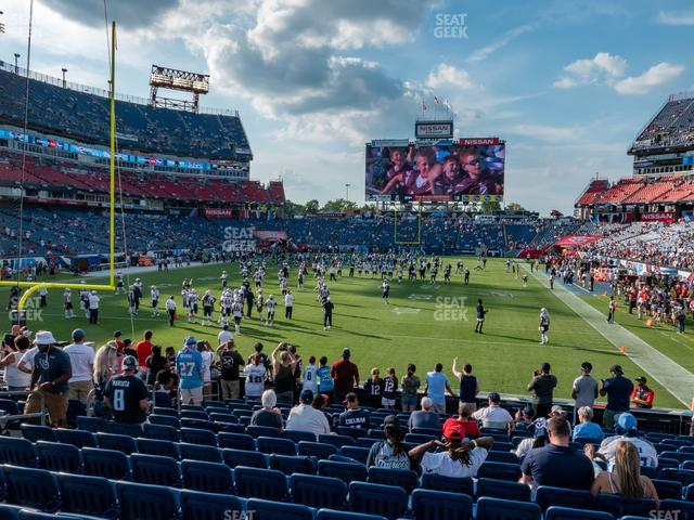Nissan Stadium Section 122 view
