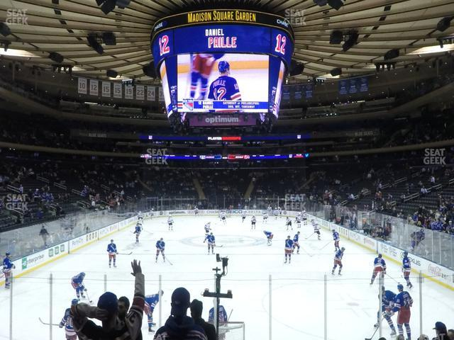 Madison Square Garden Section 102 view