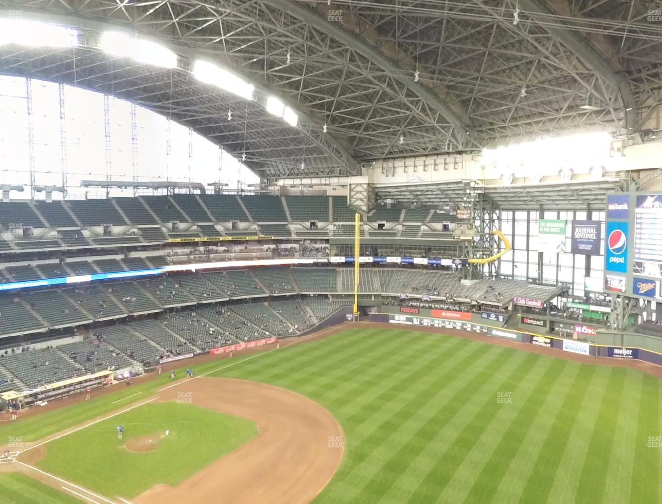 Milwaukee Brewers at Miller Park Section 410 View